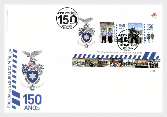 The Portuguese Public Security Police (FDC-MS) - First Day Cover