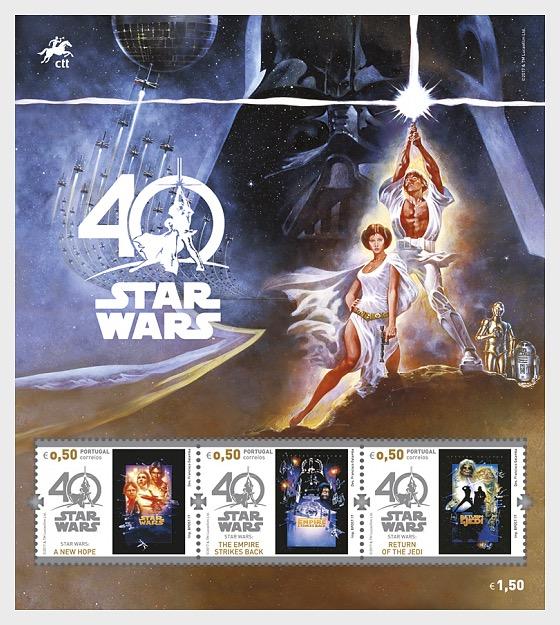 Star Wars - 40 years - Miniature Sheet