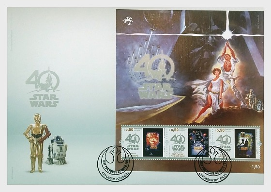 Star Wars - 40 years (FDC-MS) - First Day Cover