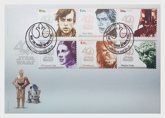 Star Wars - 40 years (Self-Adhesive) - First Day Cover
