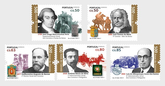 Postal Service In Portugal - 500 Years - Set