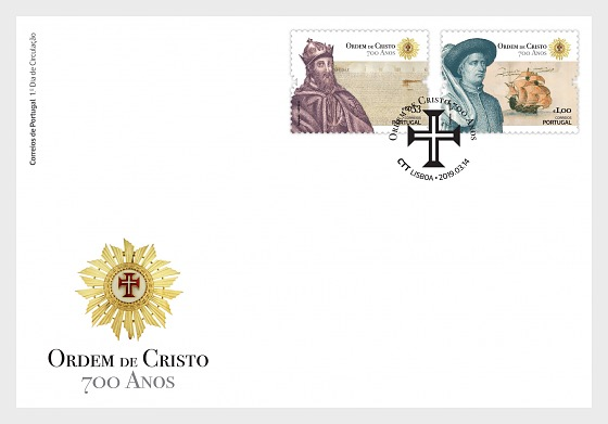 700th Anniversary of the Founding of the Order of Christ - FDC Set - First Day Cover