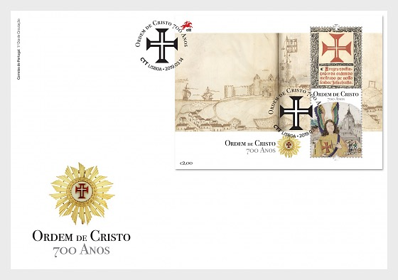 700th Anniversary of the Founding of the Order of Christ - FDC M/S - First Day Cover