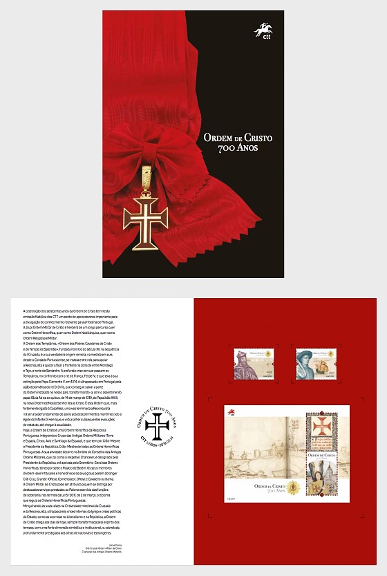 700th Anniversary of the Founding of the Order of Christ - Brochure with Set and M/S - Collectibles