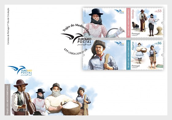 Euromed - Costumes of the Mediterranean - First Day Cover