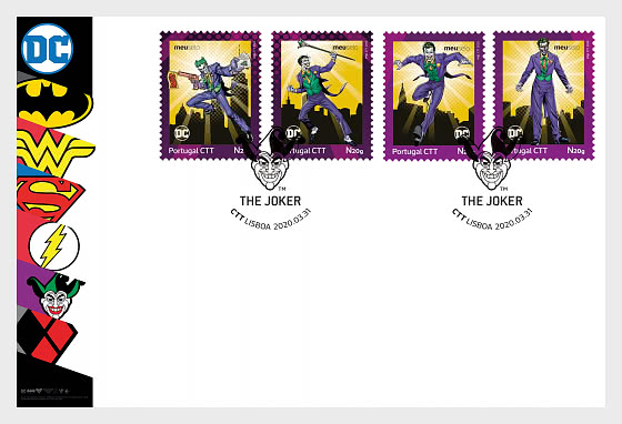 Personalized Stamps DC Comics - Joker - First Day Cover