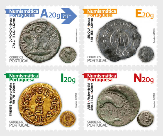 Portuguese Numismatics - 1st Group - Self-Adhesive Stamps - Set