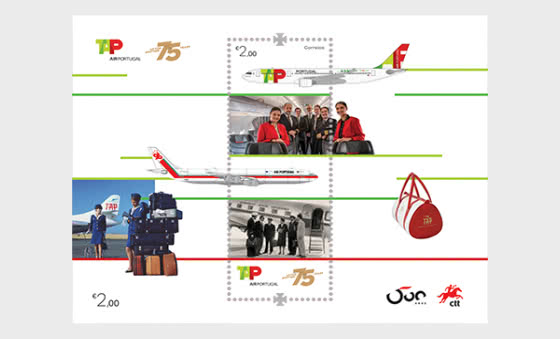 75 Years Of Tap Air Portugal - Miniature Sheet