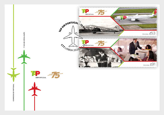 75 Years Of Tap Air Portugal - FDC Set - First Day Cover