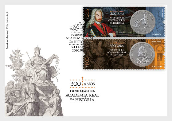 300 Years Foundation Royal Academy Of History - FDC Set - First Day Cover