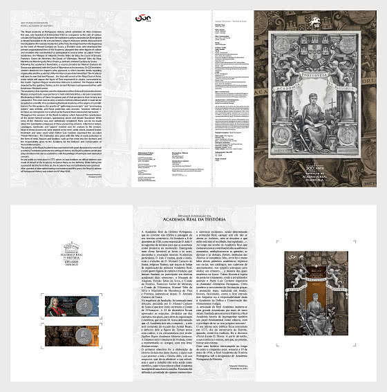 300 Years Foundation Royal Academy Of History - Brochure with Set and M/S comes as CTO - Special Folder