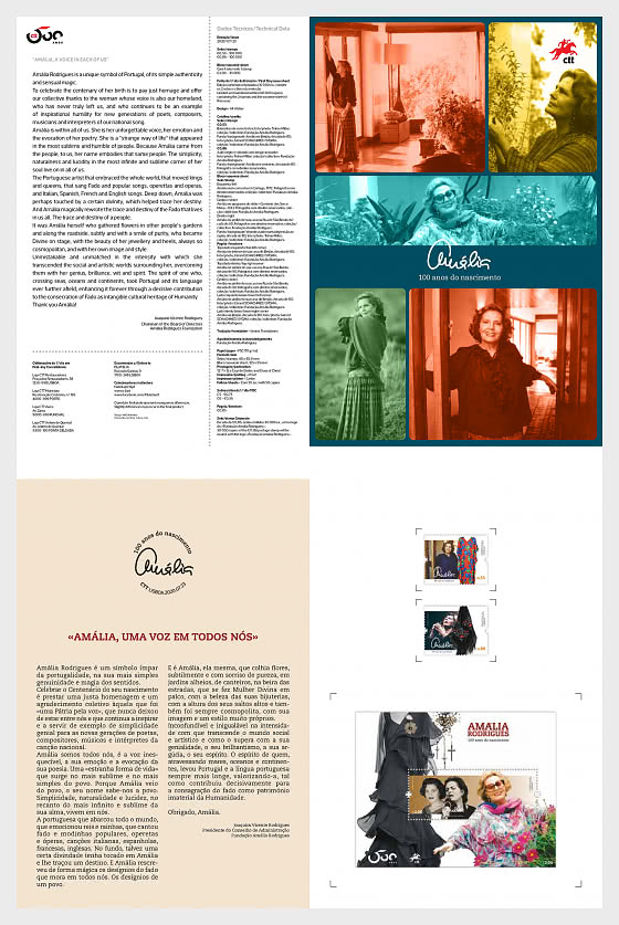 Amalia - A Voice In Each Of Us - Brochure with Stamps and Miniature Sheet comes as CTO - Special Folder CTO