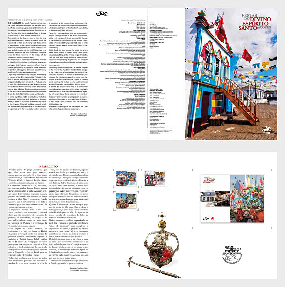 Festivities Divino Espirito Santo - Azores - Brochure with Stamps and Miniature Sheet comes as CTO - Special Folder CTO