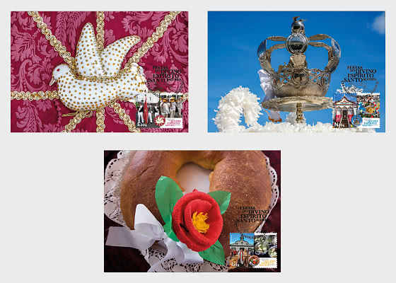 Festivities Divino Espirito Santo - Azores - Maxi Cards