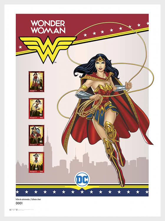 Personalized Stamps DC Comics - Wonder Woman - Collectors Sheet - Collectibles