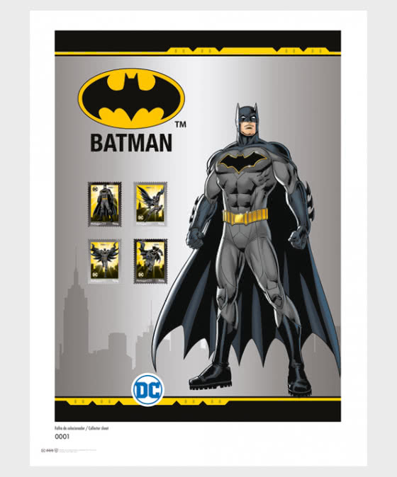 Personalized Stamps DC Comics - Batman - Collectors Sheet - Collectibles