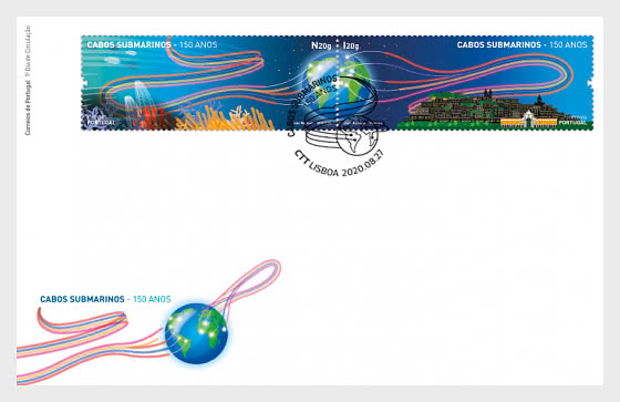 150 Years Since the First Submarine Cable in Portugal - First Day Cover