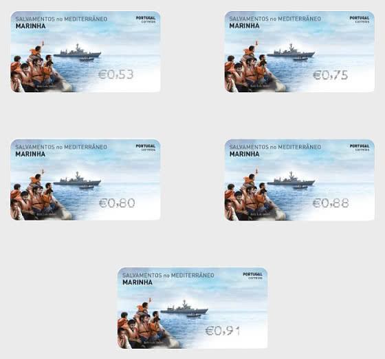 Franking Labels Mediterranean Rescues - Serie