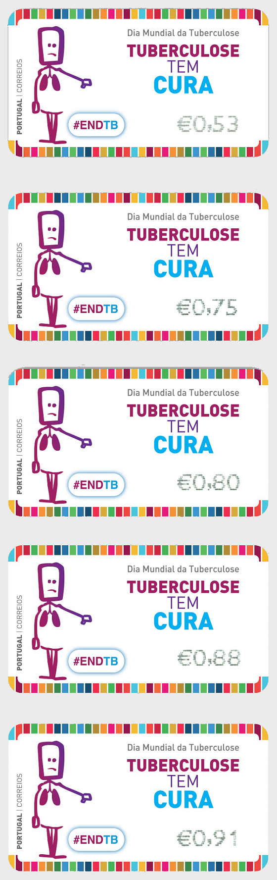 Franking Labels - World Tuberculosis Day - Sick - Set