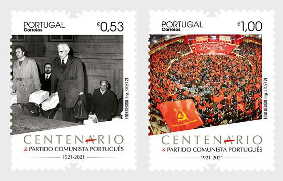 Portuguese Communist Party - 100 Years - Set
