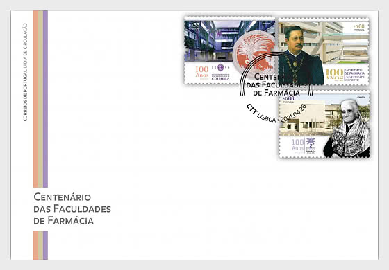 Centenary of the Faculties of Pharmacy - First Day Cover