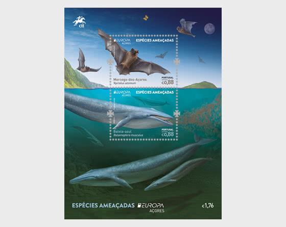 Azores - Europa 2021 - Endangered National Wildlife - Miniature Sheet