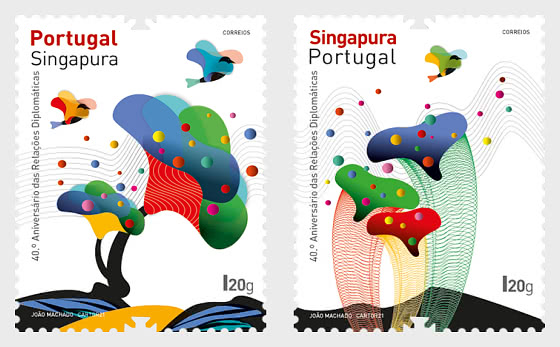 40th Anniversary Of Diplomatic Relations Between Portugal And Singapore - Set