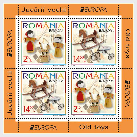 Europa 2015: juguetes antiguos - Hojas Bloque