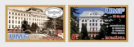 University of Medicine and Pharmacy from Tirgu Mures, 70 years - Set