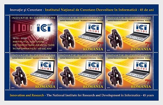 Innovación e investigación – Instituto Nacional, 45 Años - Mini Hojas