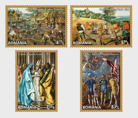 Masterpieces of Universal Art in the Romanian Heritage - Set