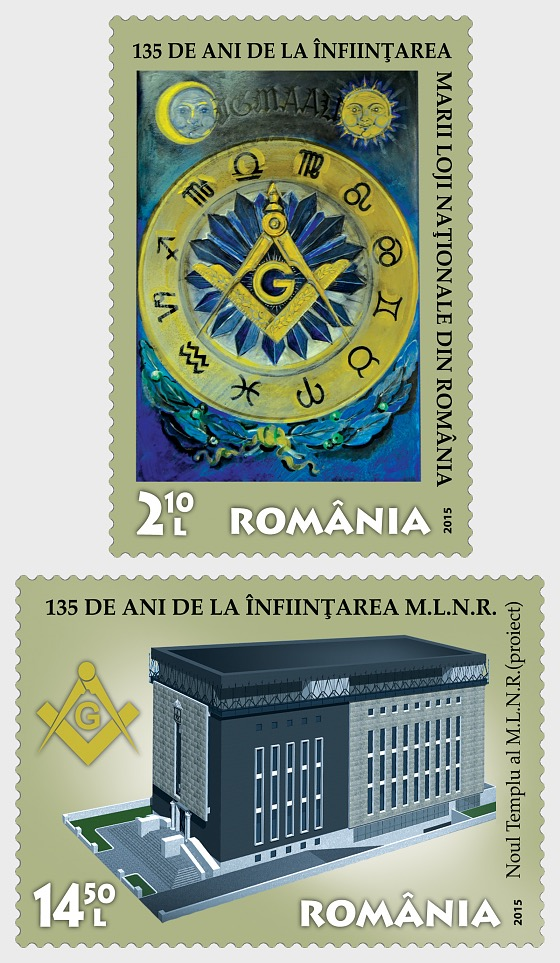 135 years The National Grand Lodge of Romania - Set