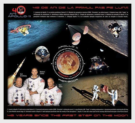 Apolo 11 – 40 años desde el primer paso sobre la Luna - Souvenir Sheet
