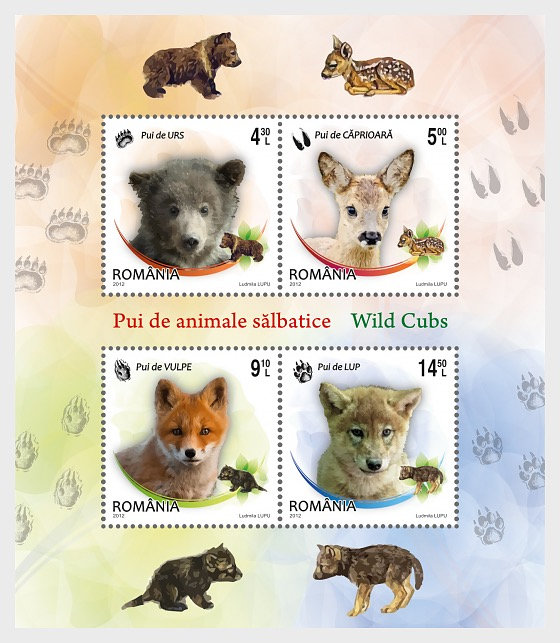 Wild cubs - Miniature Sheet