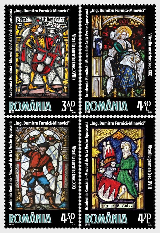 "Stained Glass Windows - ""Eng. Dumitru Furnica-Minovici"" Western Old Art Museum - Set"