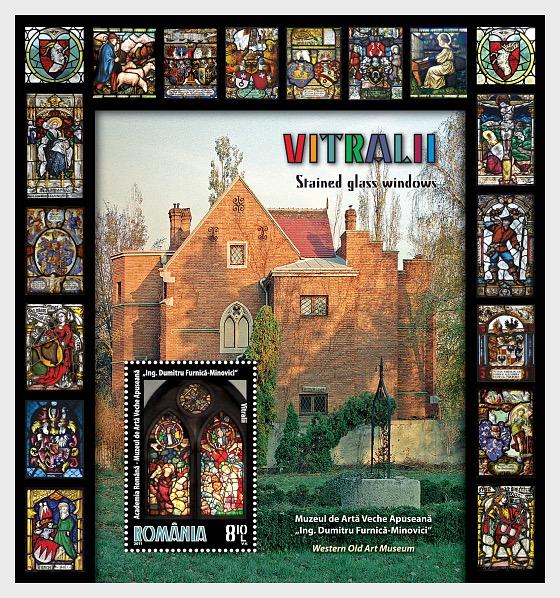 "Stained Glass Windows - ""Eng. Dumitru Furnica-Minovici"" Western Old Art Museum - Souvenir Sheet"