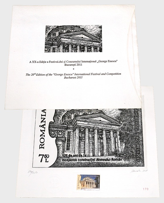 Romania 2011 Collectibles - The 20th Edition of the George Enescu International Festival and Competition (Engraving) - Collectibles
