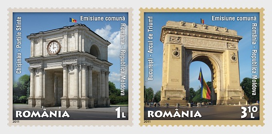 Joint stamp issue Romania – Republic of Moldova: 20 years of diplomatic relationships - Set