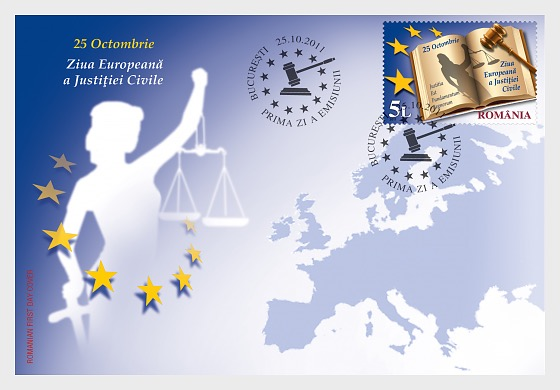 European Day of Civil Justice - First Day Cover