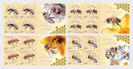 Honey Bees - Miniature Sheet
