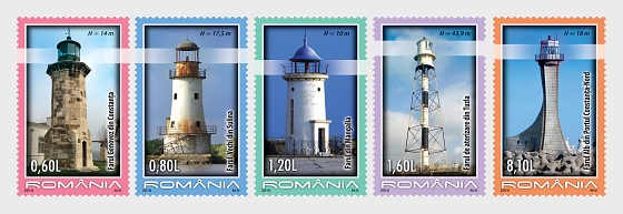 Lighthouses from Romania  - Set