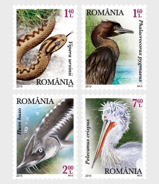 Protected fauna of the Danube River - Set
