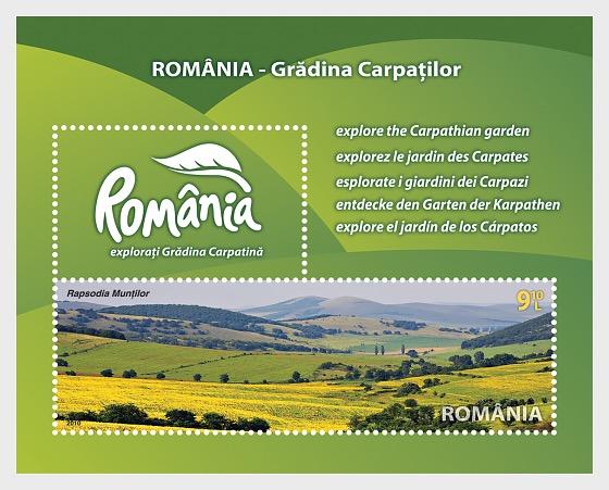 ROMANIA – The Carpathian Garden - Souvenir Sheet