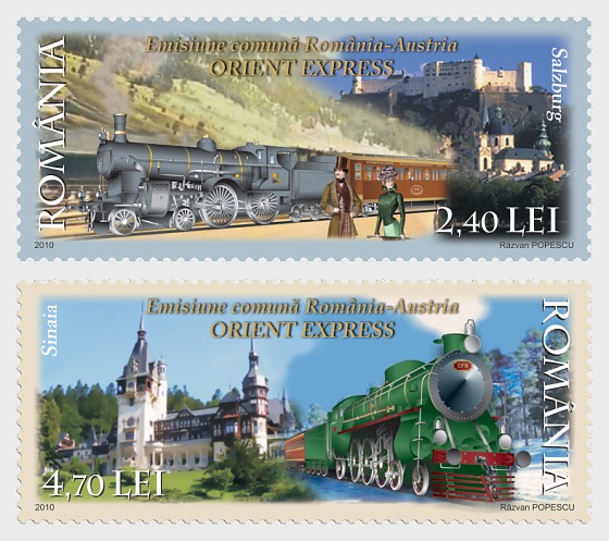 Joint stamp issue Romania-Austria: Orient Express - Set