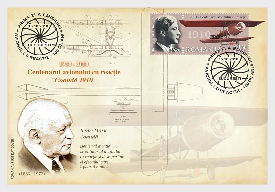 Centenary of the jet aircraft - Coanda 1910 - First Day Cover