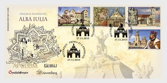 Las ciudades de Rumania, Alba Iulia - Sobre de Primer Dia