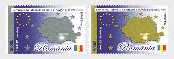 Signing of the Accession Treaty of Romania to the European Union - Set