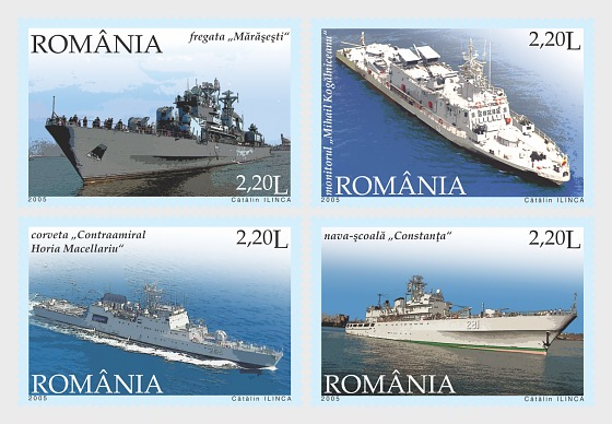 The Romanian Stamp Day – Romanian Military Vessels - Set