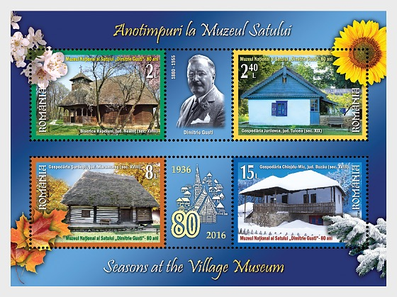 Romania 2016 Miniature Sheet - Seasons at the Village Museum (Foundation of the Dimitrie Gusti National Village Museum) - Miniature Sheet