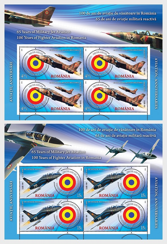 Aviation, Anniversaries; From Coanda to F-16 - Sheetlets